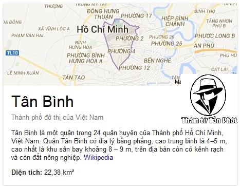 Thám tử tư uy tín chuyên nghiệp tại quận Tân Bình TPHCM