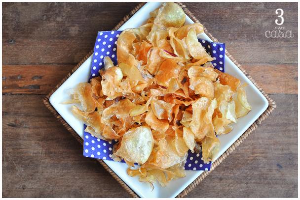 como fazer chips batata doce