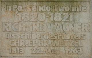 Gedenktafel in Possendorf an den Aufenthalt von Richard Wagner