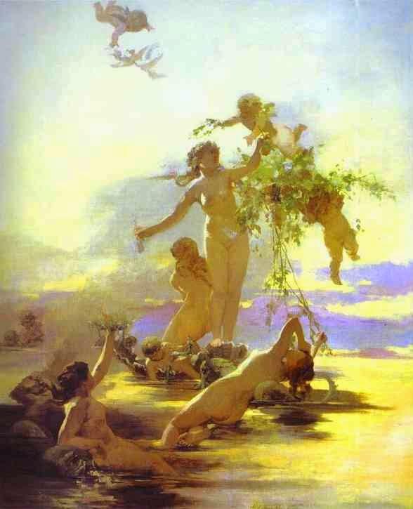 Náiades - Henryk Siemiradzki e suas pinturas ~ Polonês