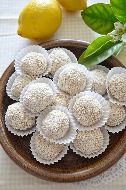 Recipe lemon truffles she wanders she finds for White chocolate truffles recipe uk