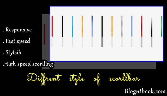 Perfect scorllbar for blog website