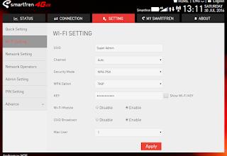 Andromax M2s Admin wifi setting