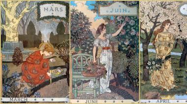 La bella jardinera y el calendario de Eugène Grasset