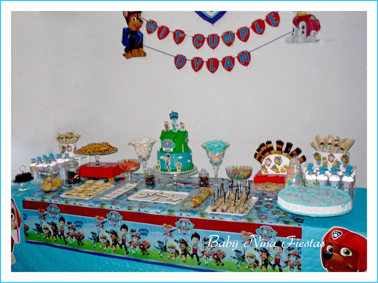 Baby nina fiestas fiesta tem tica patrulla canina para el - Fiesta infantil tematica ...