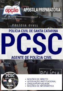 Apostila Agente de Polícia e Escrivão da  Polícia Civil de Santa Catarina (PCSC)