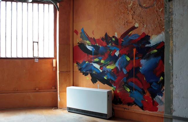 peinture mouvement energie acrylique jean baptiste besançon artiste peintre fresque murale