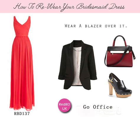 wear again red bridesmaid dresses to office