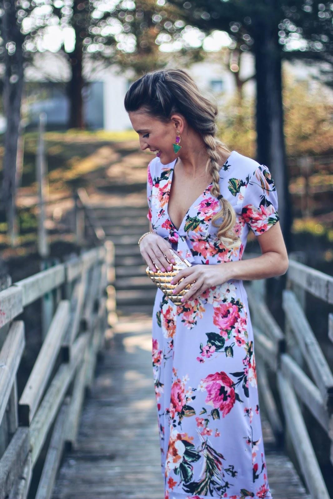 vestido largo lila