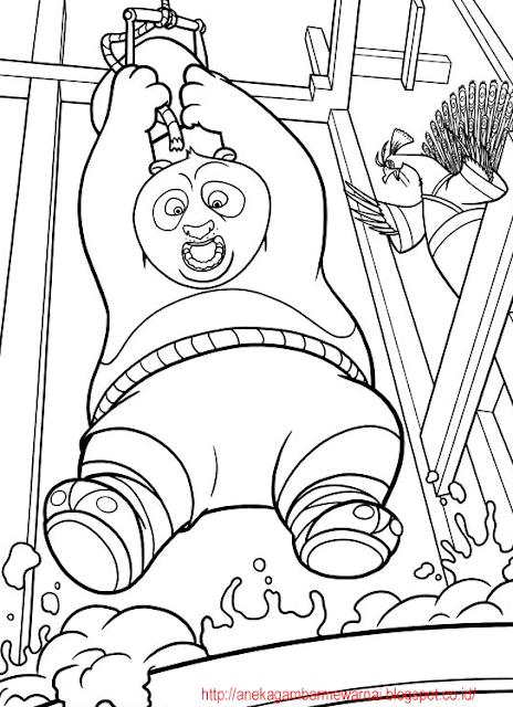 Gambar Mewarnai Kung Fu Panda 2