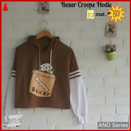 AND229 Sweater Wanita Boxer Crop Hoodie BMGShop