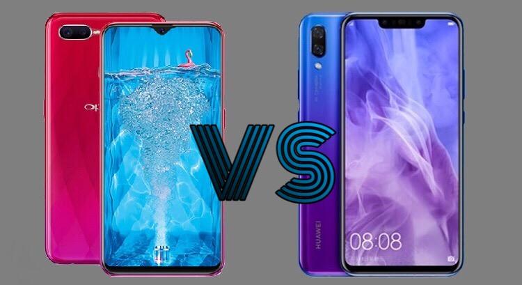 OPPO F9 versus Huawei Nova 3i