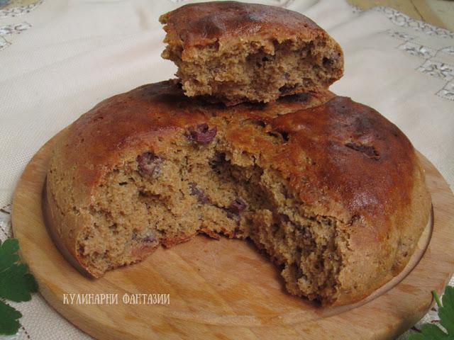 Хляб от лимец с маслини и розмарин