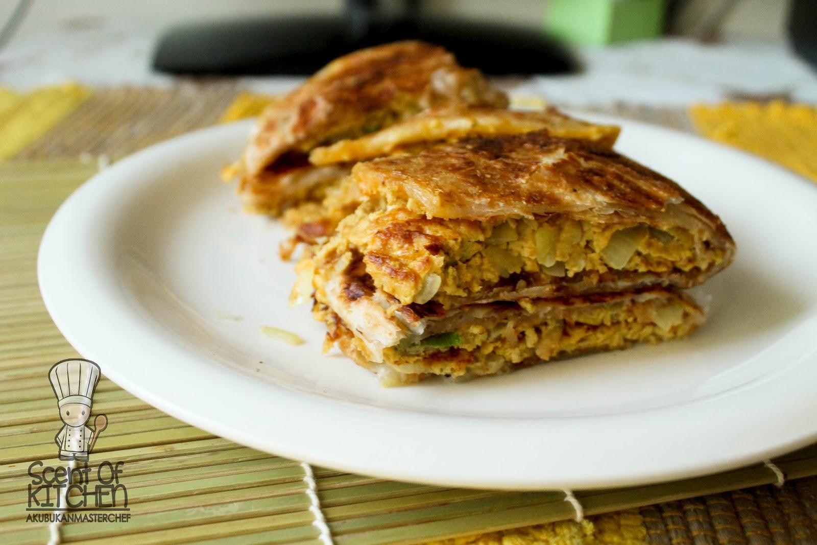 bukan masterchef resepi  pratha ala murtabak berlipat Resepi Goreng Ayam Guna Serbuk Roti Enak dan Mudah