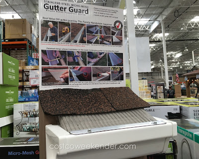 EasyOn Gutter Guard Protection System - 36 feet of steel mesh that could save you a lot of time