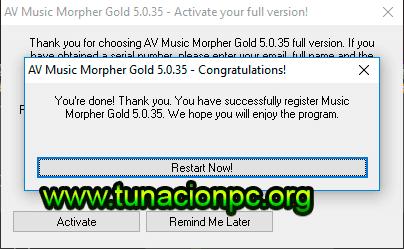 AV Music Morpher Gold con Licencia Gratis sin Limite