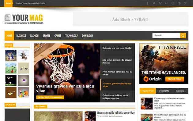 Your Mag Responsive Blogger Template