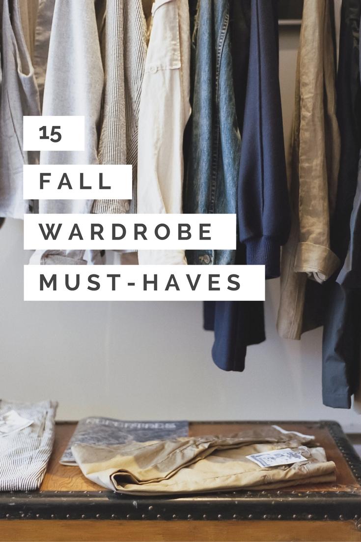 15 fall wardrobe must haves