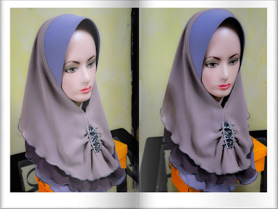 Tudung 3 layer