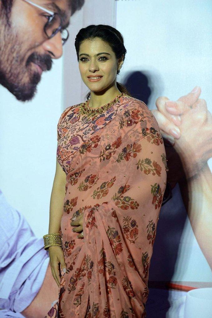 Kajol Mukherjee In Transparent Pink Saree