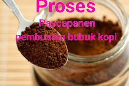 Proses pengolahan bubuk kopi dari awal panen sampai pascapanen lengkap