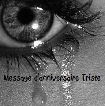 message anniversaire triste