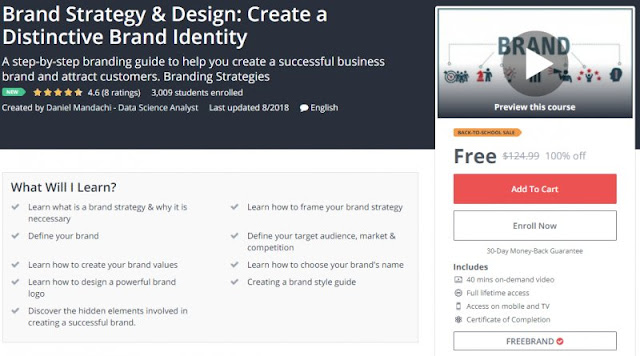 [100% Off] Brand Strategy & Design: Create a Distinctive Brand Identity  Worth 124,99$