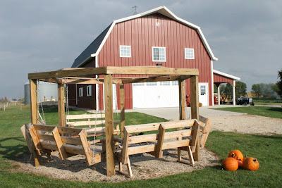 The Big Red Barn at Enchanted Acres, Sheffield, Iowa, home to lots of Girls Night Out activities this fall
