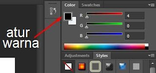 cara memberikan warna pada typography