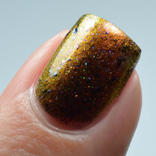 brown multichrome nail polish
