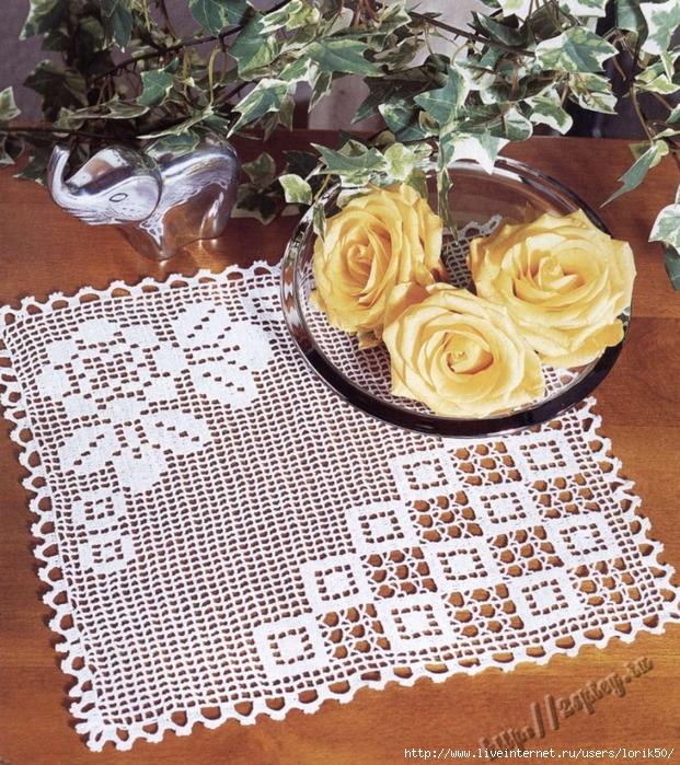 Crochet Square Doily Fillet Crochet