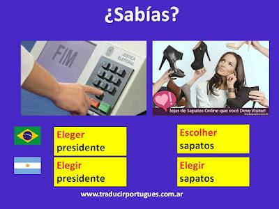 Escolher ou eleger?
