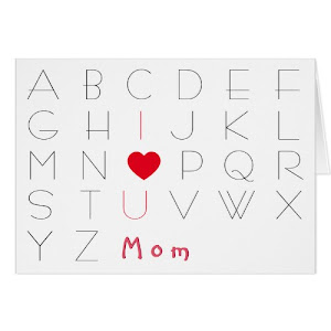 Alphabets I Love You Mom | Fun Cute Card