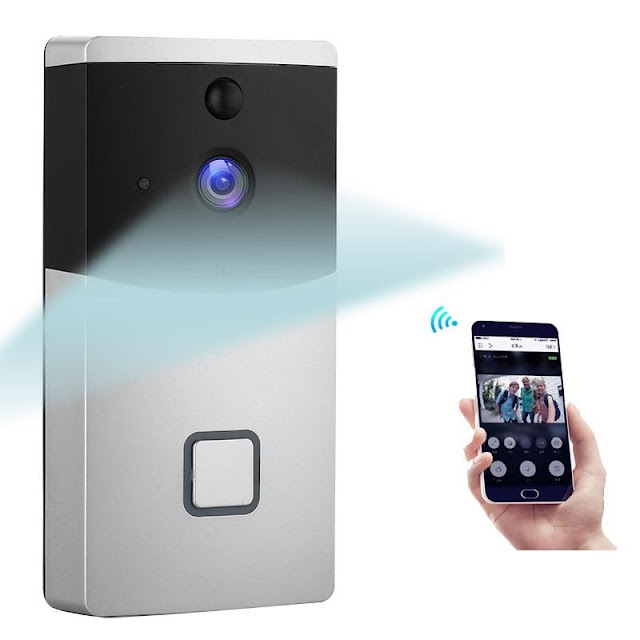 Wireless Intercom Doorbell Security Camera with Smart Phone APP