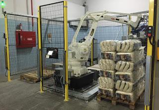 Pirinc Bakliyat torbası otomatik paletleme robotu