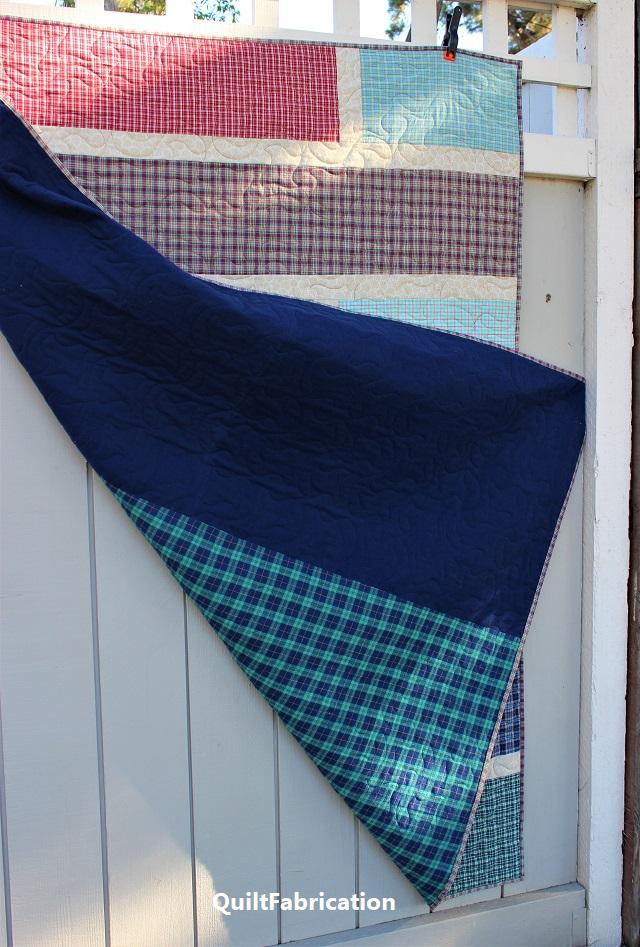 Quarter Cut 3 quilt backside
