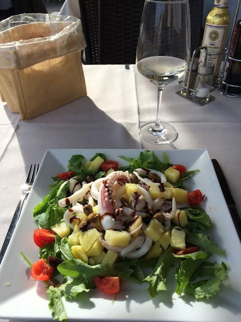 Calamari Salad in Burano Venice
