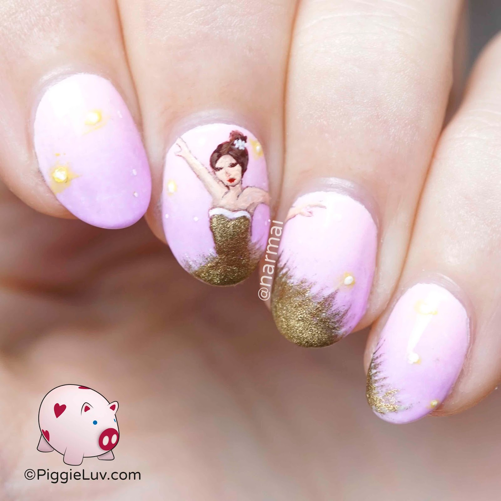 PiggieLuv: Glamour ballerina nail art
