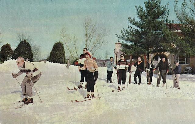 Nevele Grande - Ski Postcard