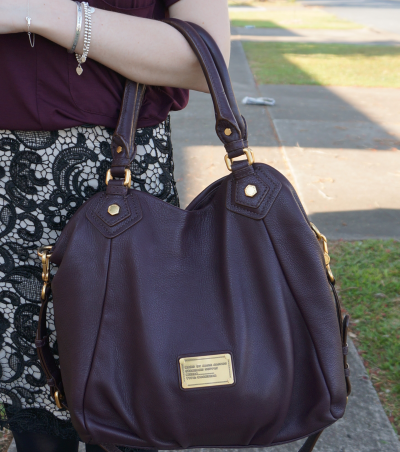 marc by marc jacobs fran bag worn on arm carob brown