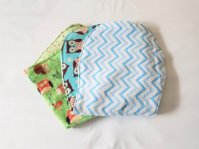 sew burp cloth