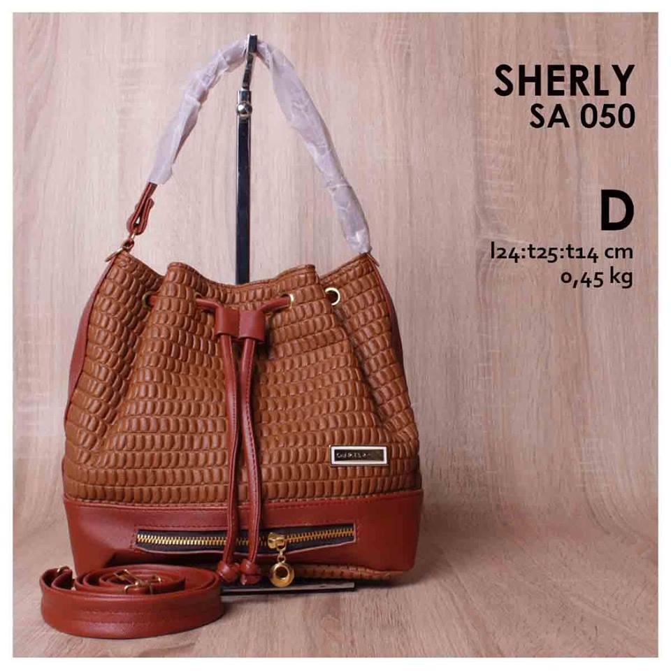 Jual Online Handbag Wanita Model Serut Murah Bagus - Sherly SA 050
