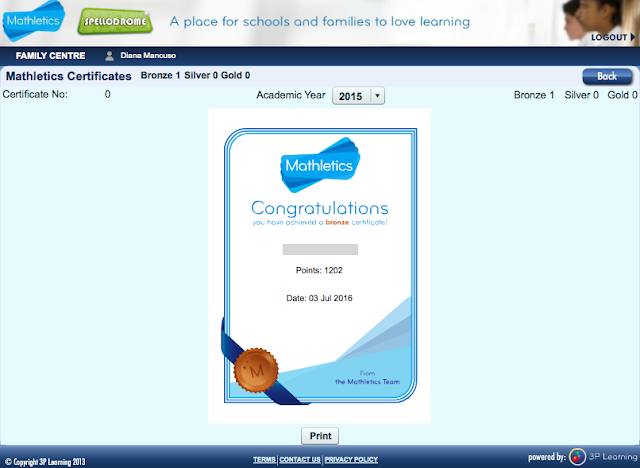 Mathletics.ca - Certificate