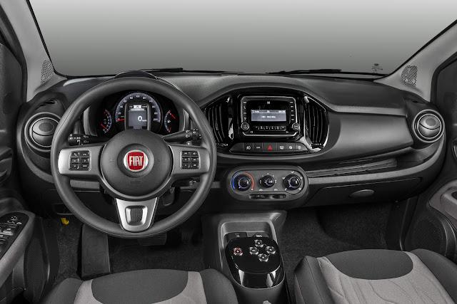 Novo Fiat Uno 2017 Way Dualogic automatizado - interior