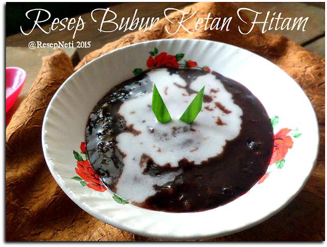 resep bubur ketan hitam di dapur kusNeti 2015