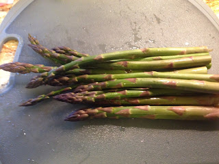 Fresh, local asparagus