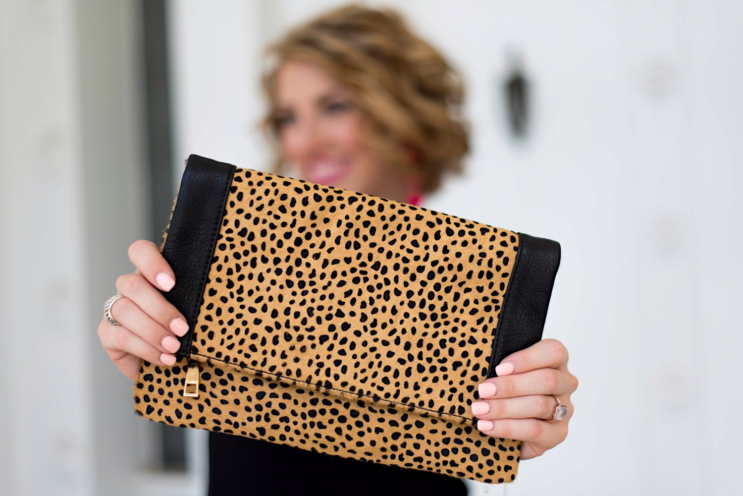 Leopard Clutch - Click through to see the full look on Something Delightful Blog!