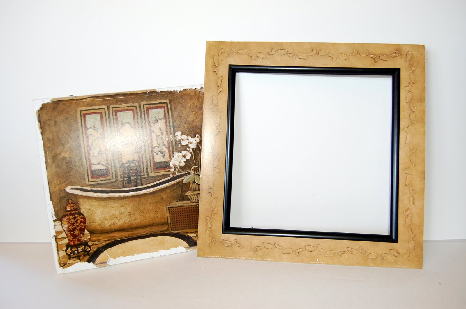 Beth Being Crafty Repurposing Framed Quot Art Quot For Your Own