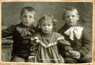 Eugene Desgroseilliers and his sister Alma and brother Arthur
