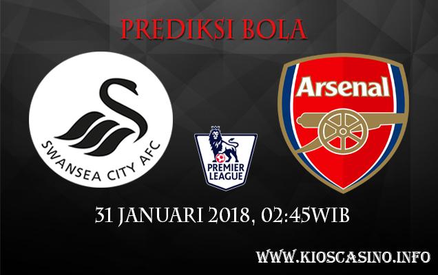 Prediksi Bola Swansea City Vs Arsenal 31 Januari 2018